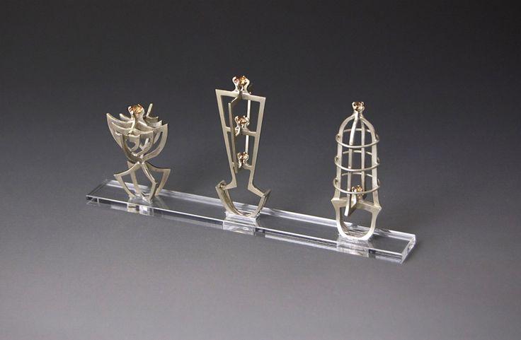 Sagrada Familia.     Rings.  sterling silver, cubic zirconia.  2014 #jewelry #artjewelry #handmade #silver #silversmith #crafts #metal #rings #fineart