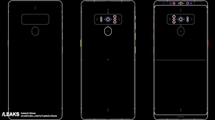 Mögliche Samsung Galaxy Note 9 Design-Skizzen aufgetaucht