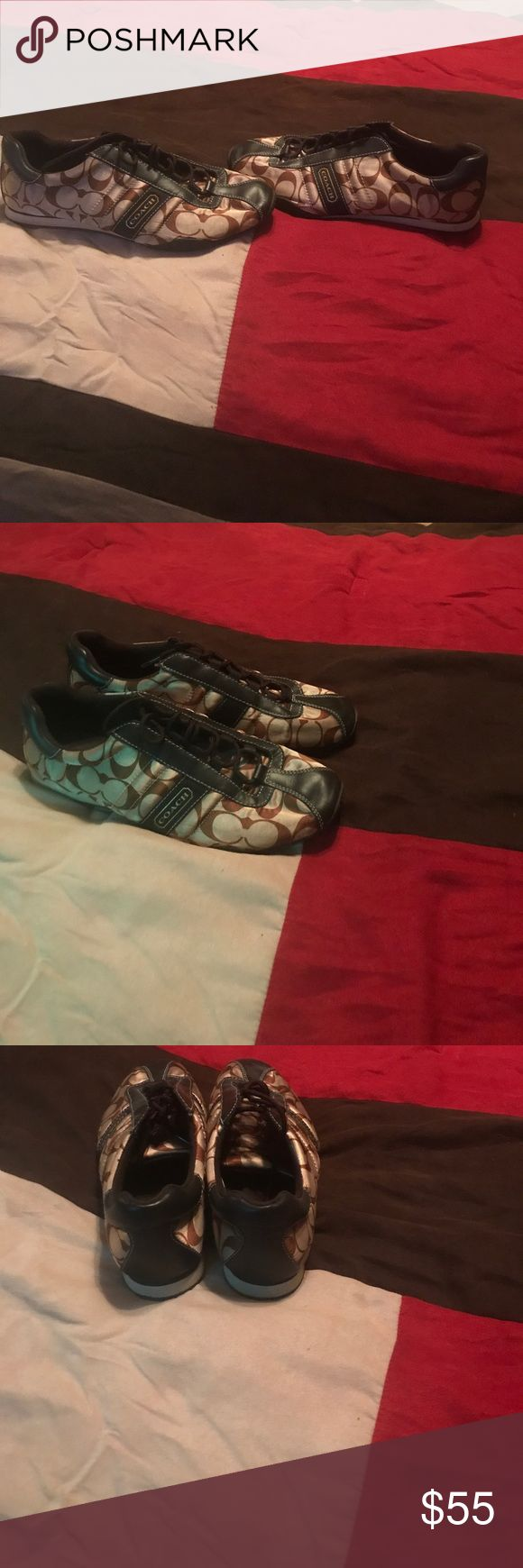 Coach shoes Real good condition worn only one time. Coach Shoes Flats & Loafers