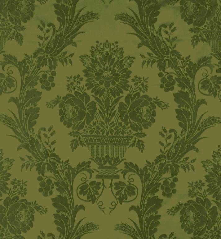 The Original Green Colorway Of Pattern Which Ogden Codman Used At Iconic Newport Cottage Chateau Sur Mer