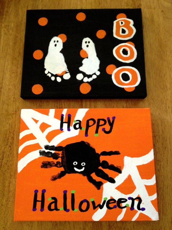 25 Easy DIY Halloween Crafts For Kids To Make Handprint And Footprint Art