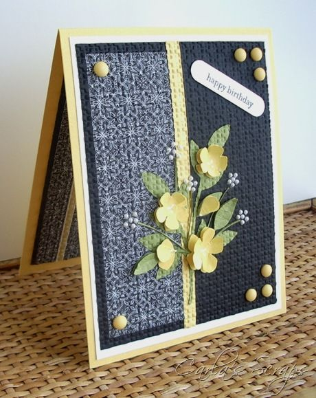 embedded embossing card by Carla (and sweet buttercups): Card Idea, Happy Birthday, Embossing Techniques, Embed Embossing, Color Schemes, Color Combos, Embossing Card, Weddings Card, Emb Embossing