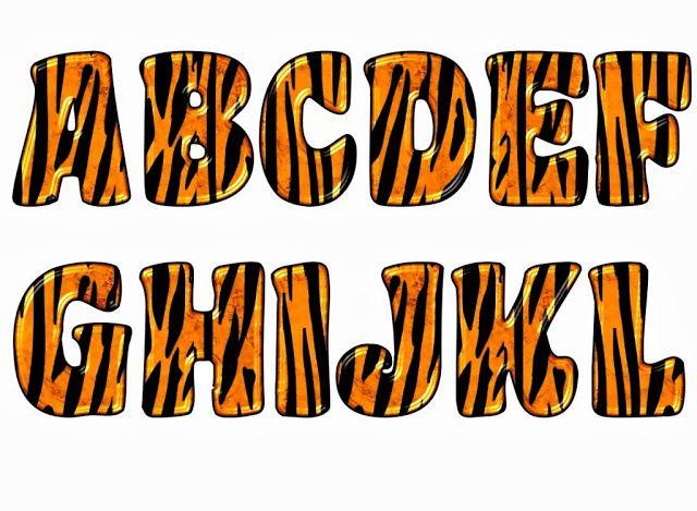 Alfabeto de piel de tigre.