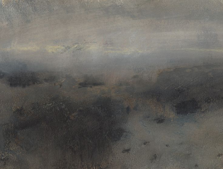 Nicholas Herbert, British Artist - Landscape L969, Sharpenhoe Series, View into the Distance, The Chiltern Hills, contemporary mixed media painting