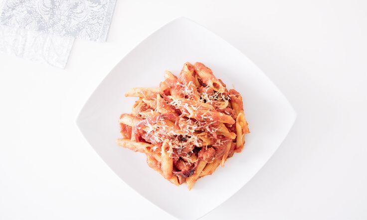 Penne con Chorizo Picante