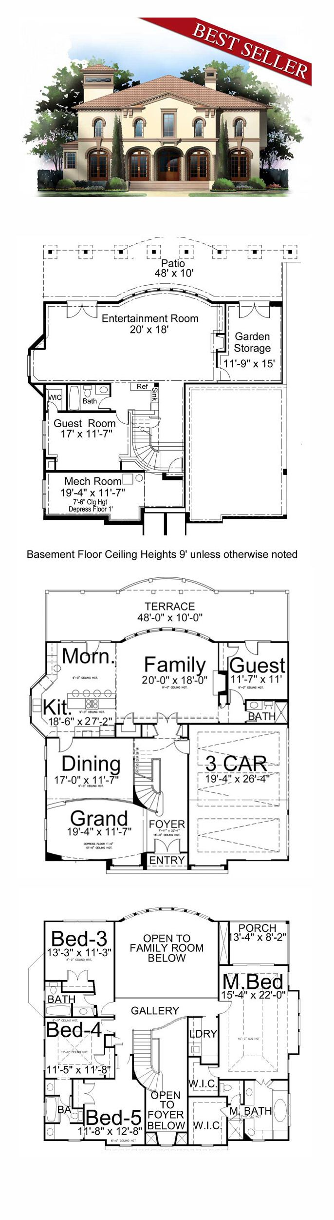 16 best house plans with in law suites images on pinterest cool cool house plan id chp 37100 total living area 3073 sq
