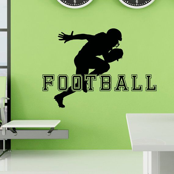 Football Wall Decal Sports Man American Football by FabWallDecals
