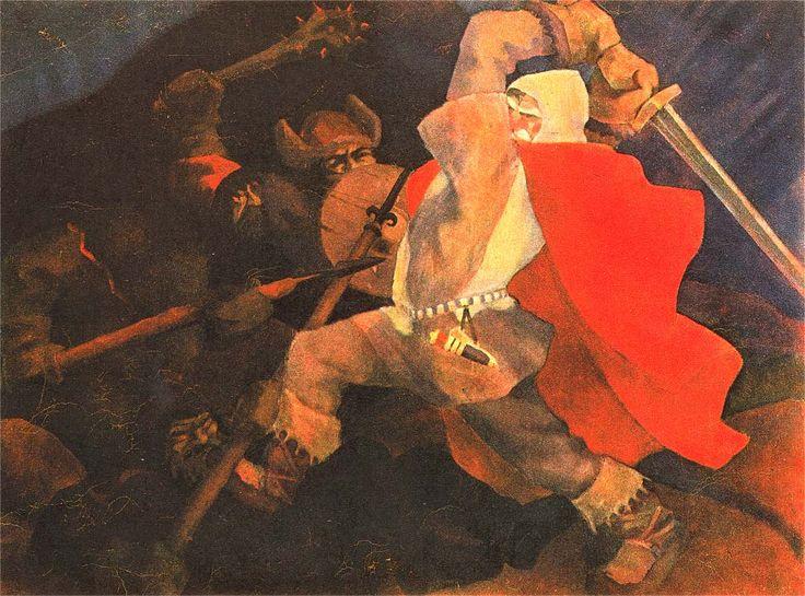 Sota valosta, Erkki Tanttu, oil 1933