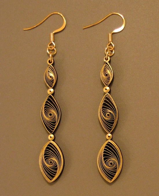 Quilling Earrings Tutorial images