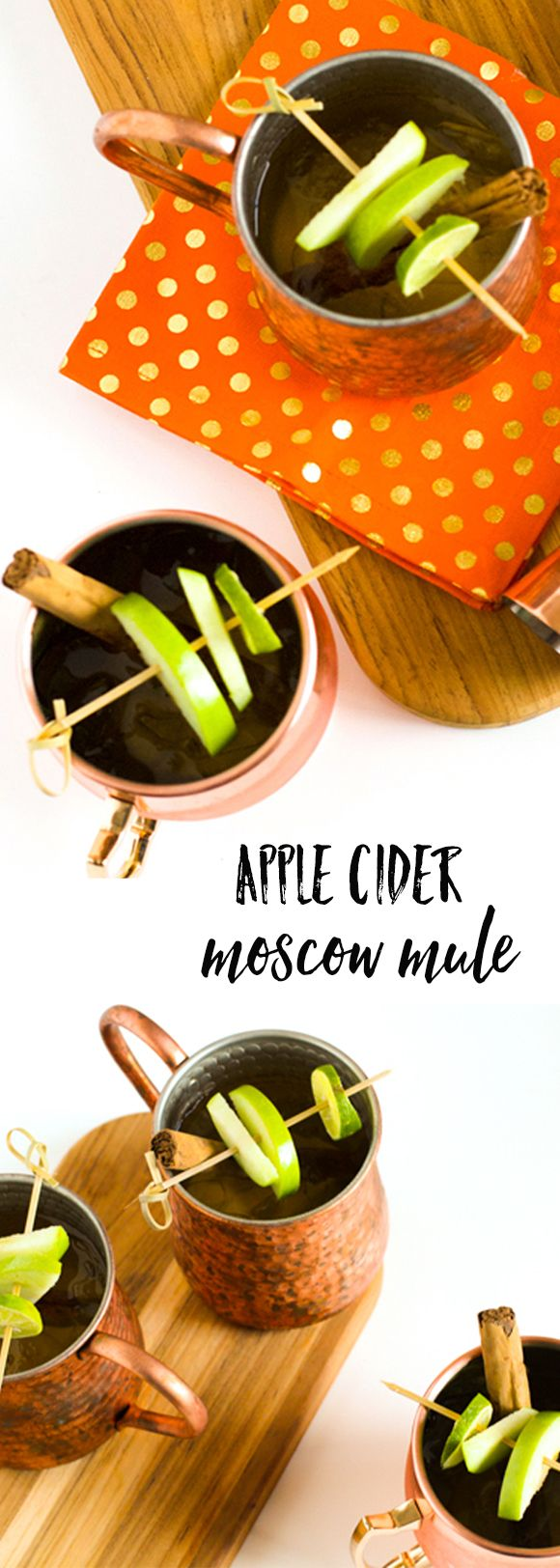 A creative moscow mule recipe. This apple cider moscow mule is delicious!