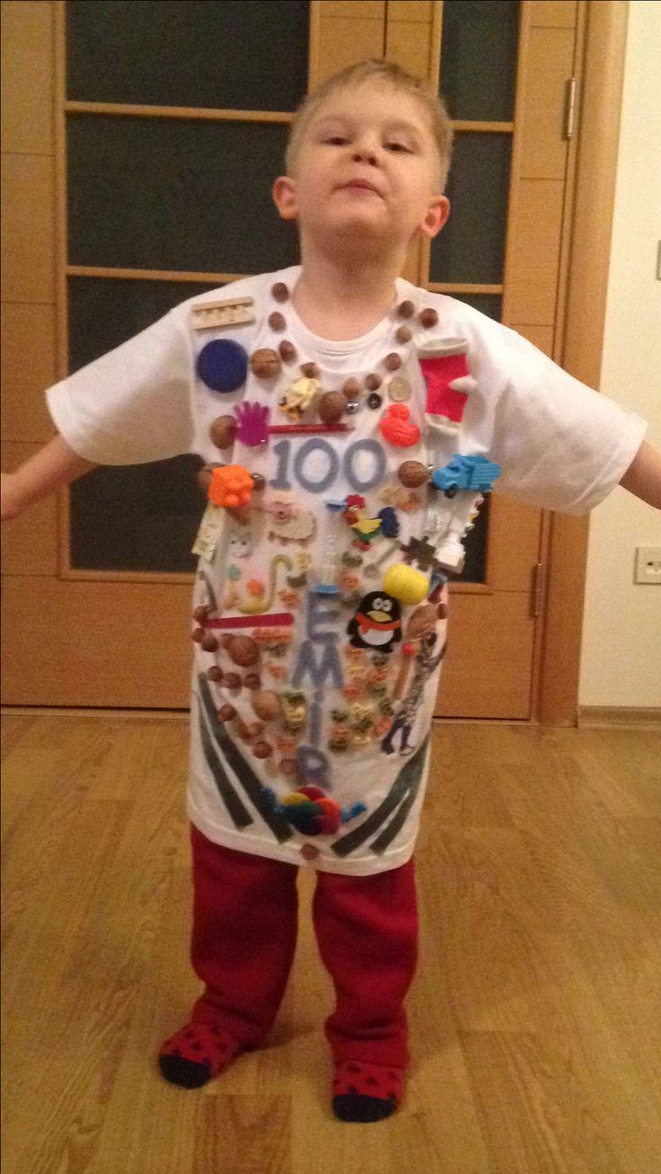 100 gün matematik aktivitesi için hazırladığımız 100 objeden oluşan tişört. Çocukla birlikte yapılan eğlenceli bir faaliyet