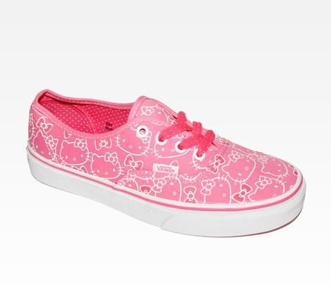 VANS x Hello Kitty Authentic Lace Up: Pink Yeah I cant wait for them to come in the mail!
