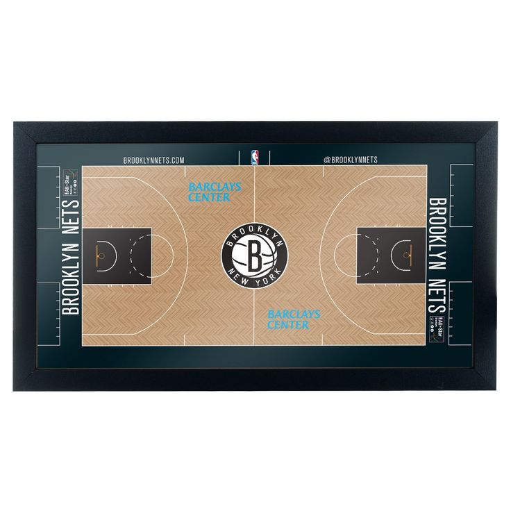 NBA Brooklyn Nets Team Court Framed Plaque