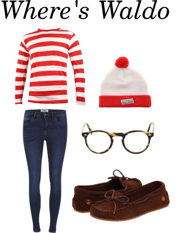 Easy Halloween costume idea: Where's Waldo - I saw someone wearing this in a crowd and thought it was the most clever thing ever!