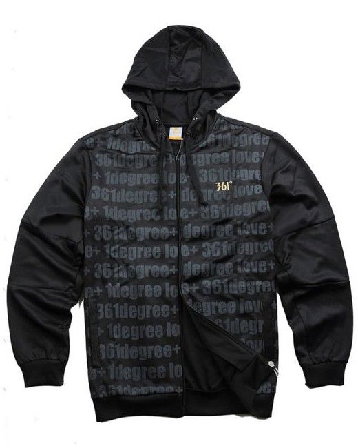 Pocket Letter Pattern Zipper Hoody Coating Jackets  Price: $54.06 USD