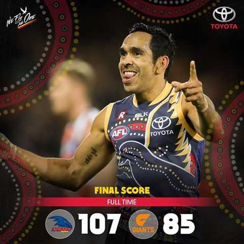 Eddie Betts is an amazing player, and the crowd love him!!!