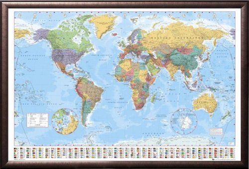 The 103 best poster print images on pinterest poster prints world map 2015 giant poster 55 x world map political classroom educational giant poster gumiabroncs Image collections