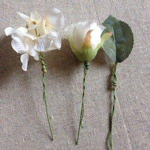 ウエディング 手作り造花花冠の作り方