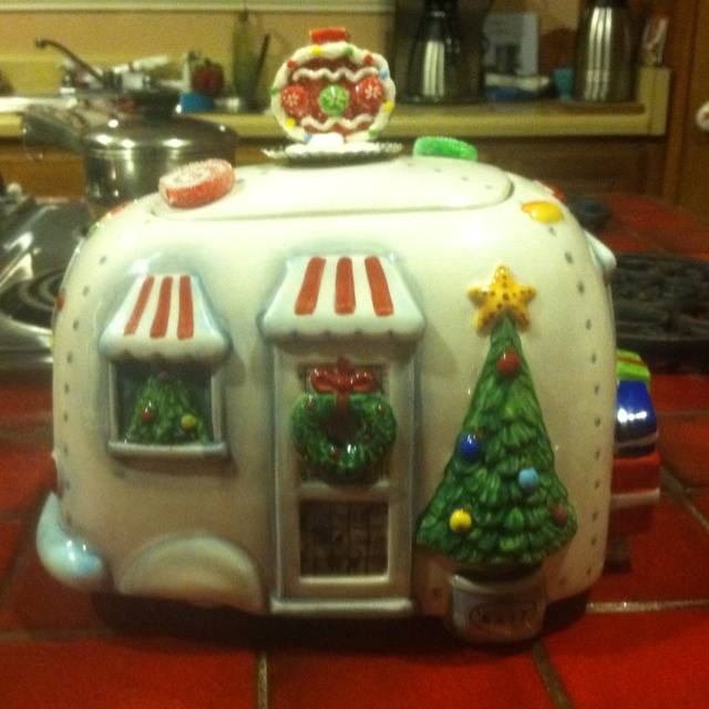 Airstream Christmas Cookie Jar