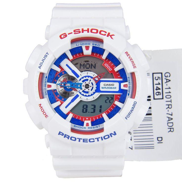 Chronograph-Divers.com - Casio G-Shock White Tricolor Series Watch GA-110TR-7A, $99.00 (http://www.chronograph-divers.com/casio-g-shock-white-tricolor-series-watch-ga-110tf-1a/)