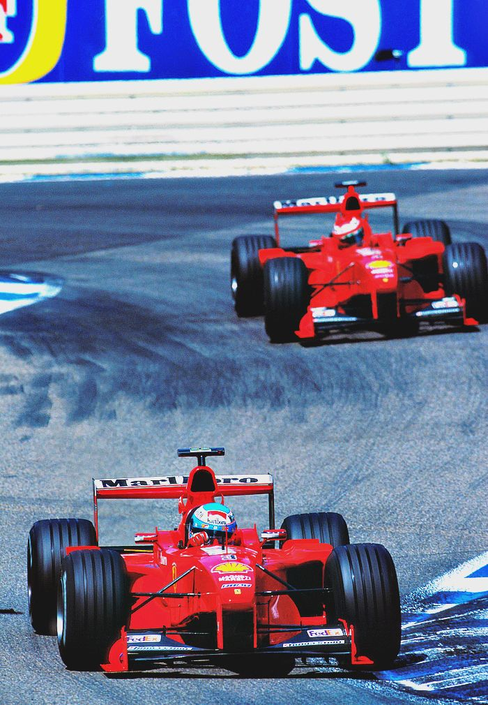 <small><b>Mika Salo and Eddie Irvine l Germany 1999</b></small>