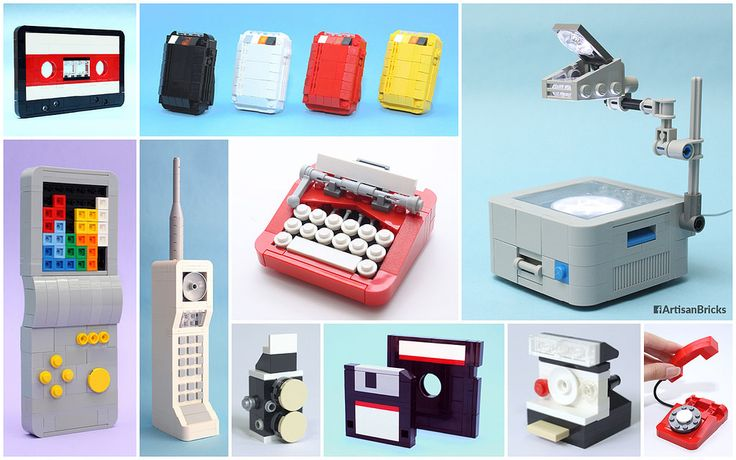 Retro Replay 2016 - Artisan Bricks | It's yesterday once more! Here are some brick renditions of cutting-edge technology from the last century. How many of these can you recognise? :) #retro #cassette #pager #tetris #motorola #typewriter #polaroid #rolleiflex #floppy #rotary #phone #lego #singapore  www.facebook.com/artisanbricks www.instagram.com/artisanbricks www.artisanbricks.com