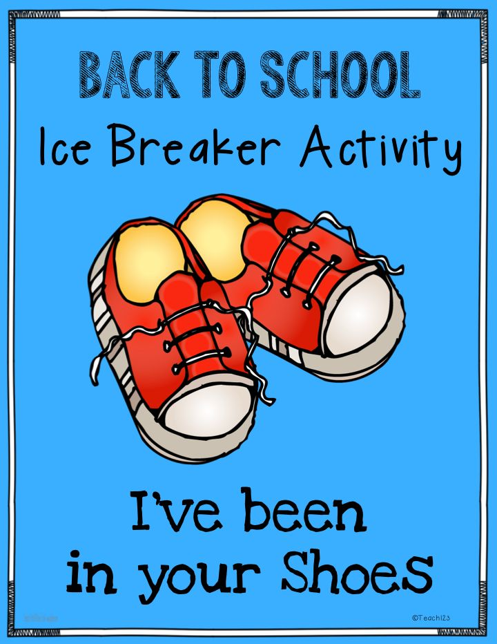 """Back to School: Ice Breaker : When you go to a party and don't know very many people, how do you connect with them? Do you try to find something that you have in common? Shared experiences? """"I've been in your shoes"""" is a fun activity that helps your students finding something in common with each other plus you can do a mini-lesson on figurative language at the same time. FREE printables for you. #backtoschool"""