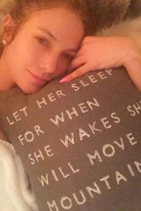 Love the quote on this pillow: let her sleep for when she wakes she will move mountains