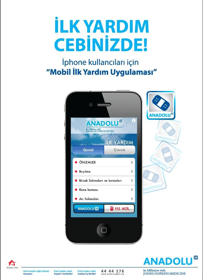Anadolu Sağlık Merkezi, mobil ilkyardım uygulamasıyla acil durumlar da yanınızda