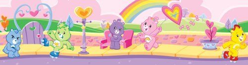 Brewster PS99833 Care Bears Wall Border by Brewster. Save 45 Off!. $16.52. Colorful Care Bears dance across rainbows hanging happy little stars in the sky as they go. This warm and lovable wall border, PS99833, is easy to install. Using modern Peel and Stick technology you just peel and apply. And it is repositionable! The vinyl surface cleans with soap and water. Twelve-feet long and five-inch wide, this border will bring a sparkle to your little gal's room. Coordinating Care Bears Wall...