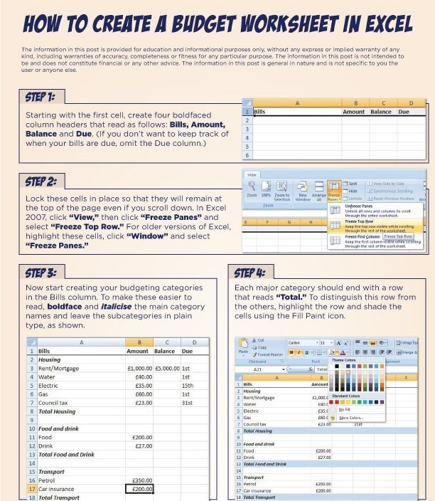develop a budget worksheet excel helom digitalsite co