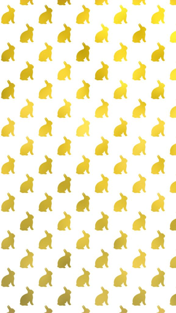 Free Easter Background. Gold Bunny iPhone Wallpaper