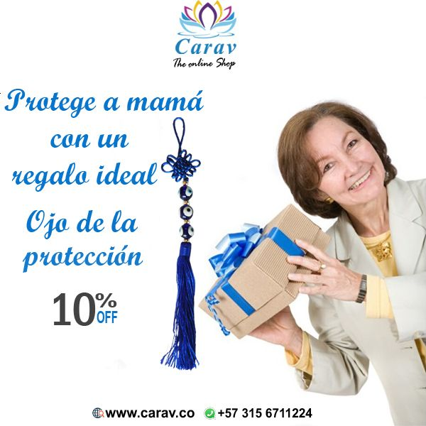 #Mamá siempre nos #protege, ahora es tiempo de nosotros #protegerla a ella. #Regalale el #OjoDeLaProteccion en su día, para que lo cuelgue frente a la #Puerta, en su #habitación o en su #oficina.  Porque los ojos son la mirada del #alma.  Pidelo aquí: https://goo.gl/pVbxLz  Más info por inbox o whatsapp📲3156711224 ✈️ Envios 100% seguros a todo el país 🇨🇴 #Colombia  #Regalo #RegaloParaMama #DiaDeLaMadre #RegaloDeDiaDeLaMadre #BuenaVibra #Felizmartes #Mayo #MesDeMama #accesorio #amigas…