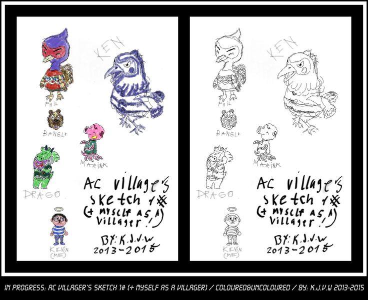 https://flic.kr/p/yz7toK | In Progress: AC Villagers 1# (+Myself As A Villager) | (Animal crossing Franchisebelongs to Nintendo)