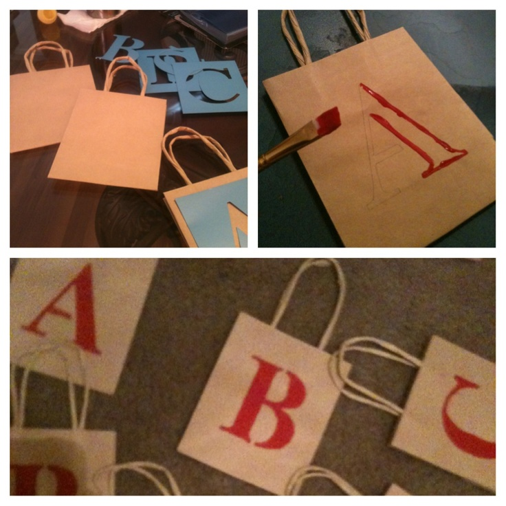Hand Painted Favor Bags #AgapeAffairs