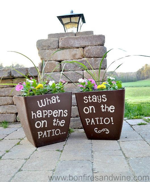 What happens on the patio...I need this painted on a sign for the patio.