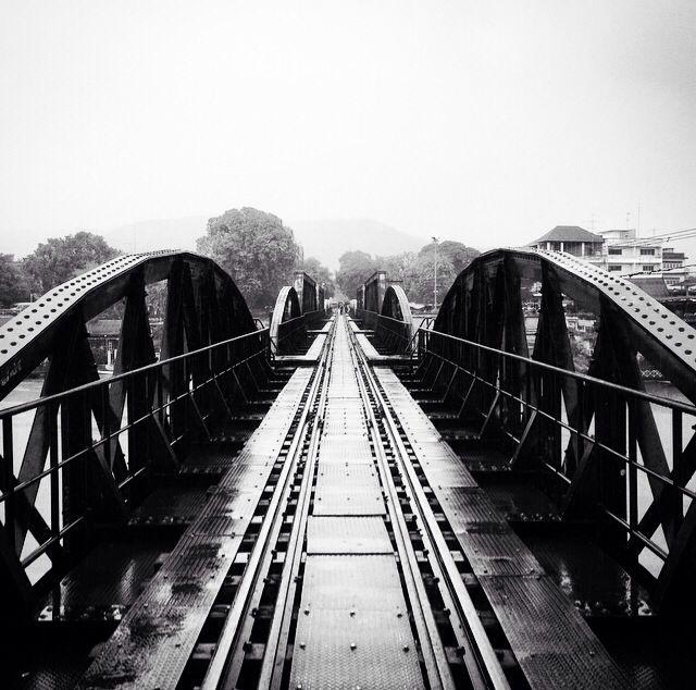 Kananchaburi, Thailand Also know as the Bridge over the River Kwai or Death Railway