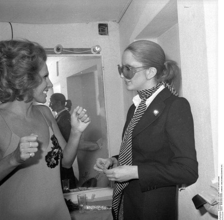 con ornella vanoni a viareggio nel 1972