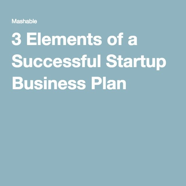 As 25 melhores ideias de Business plan example no Pinterest - business plan elements