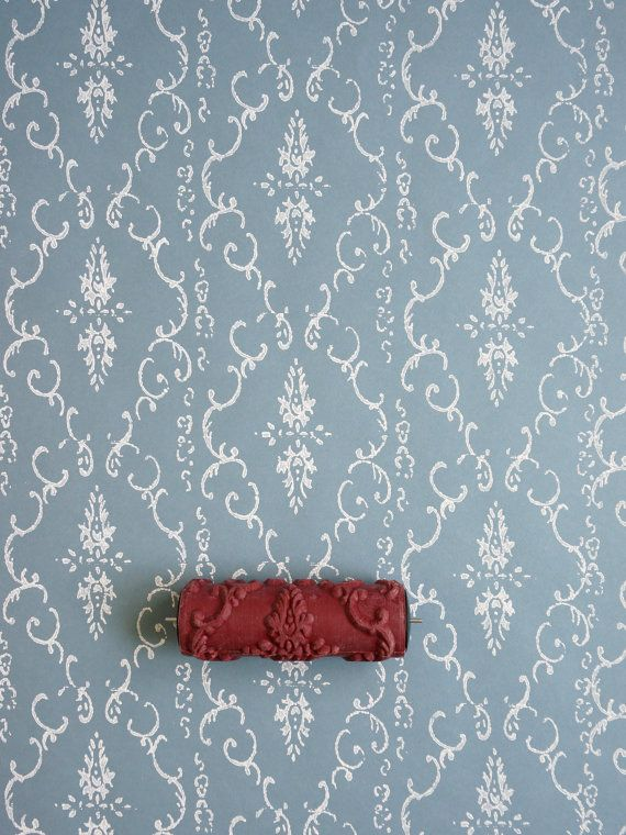Damask Patterned Paint Roller No.29 from by patternpaintrollers