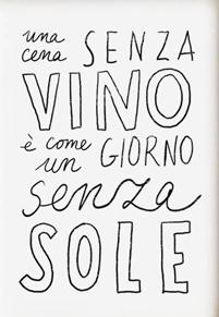 un repas sans vin c'est comme une journée sans soleil