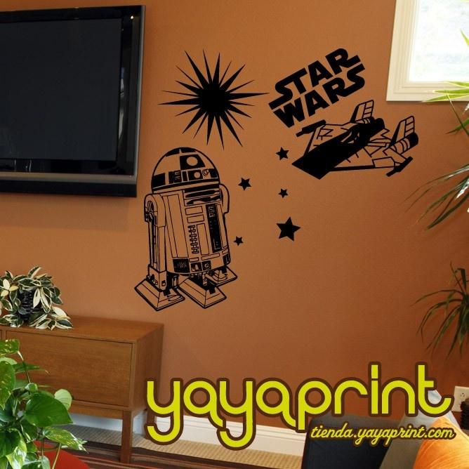 Star wars r2d2 vinilo nave vinilos decorativos vinilo for Stickers decorativos pared