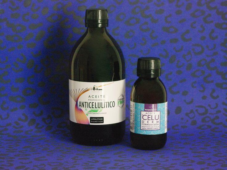 ACEITE ANTICELULÍTICO: Aceite coadyuvante anticelulítico de TERPENIClabs. Un aceite corporal para la prevención y tratamiento de la celulitis blanda, dura y esclerótica (piel de naranja).