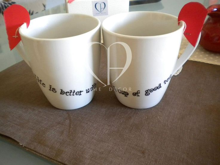 "couple mug of tea ""Life is better with a good cup of tea"""