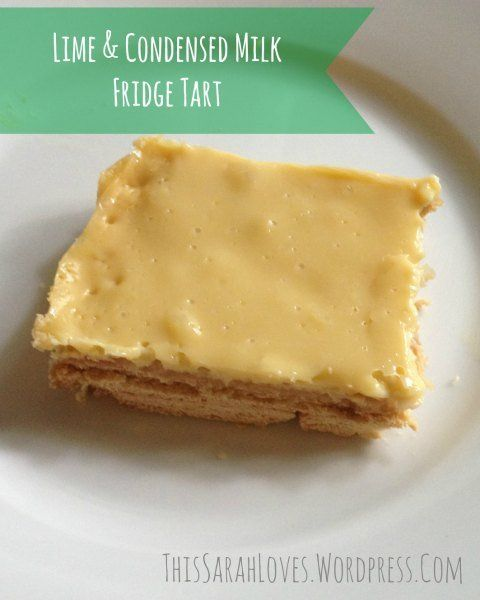 Lime and Condensed Milk Fridge Tart