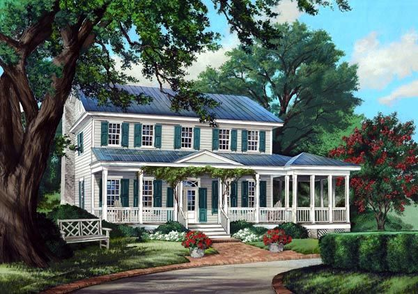 House Plan 86248 Colonial Country Farmhouse Traditional