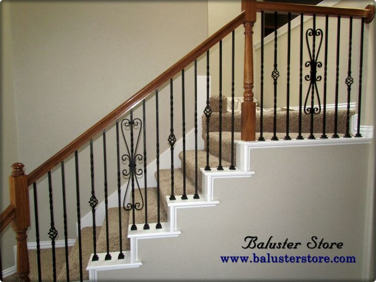Iron Balusters Iron Stair Parts Iron Railing Decorative Staircase Wood  Handrail Iron Balcony Iron Fencing Deck