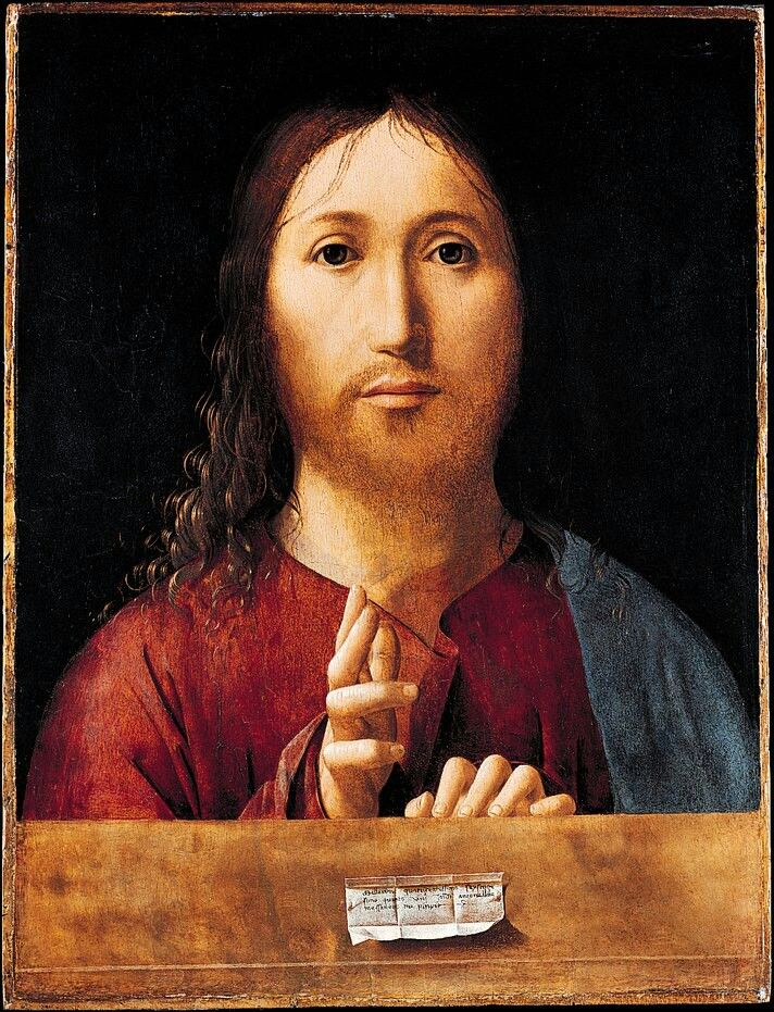 Antonello da Messina, Salvator Mundi #messina #sicilia #sicily