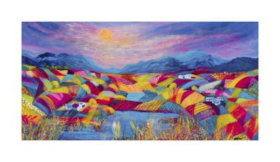 rainbow fields by Kathleen Buchan from art.co.uk