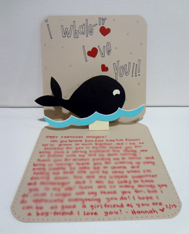 Handmade card for boyfriend silly hammy hoblob lover for What to put on a valentines card